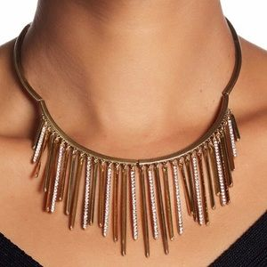 NWT - Pave Crystal Fringe Frontal Collar